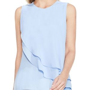 Vince Camuto pastel blue layer blouse tank top
